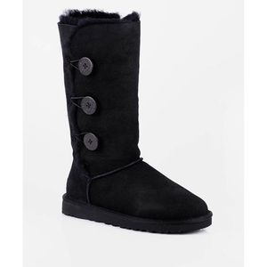 UGG Bailey button trio black shearling boots